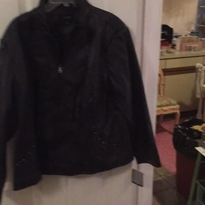 Cokebrook black faux leather jacket
